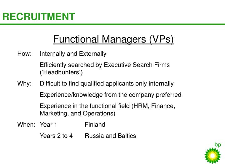 Functional Managers (VPs)