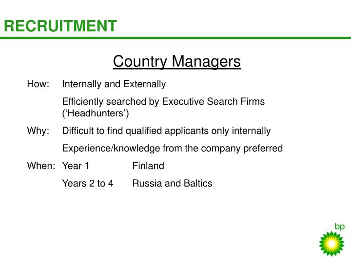 Country Managers