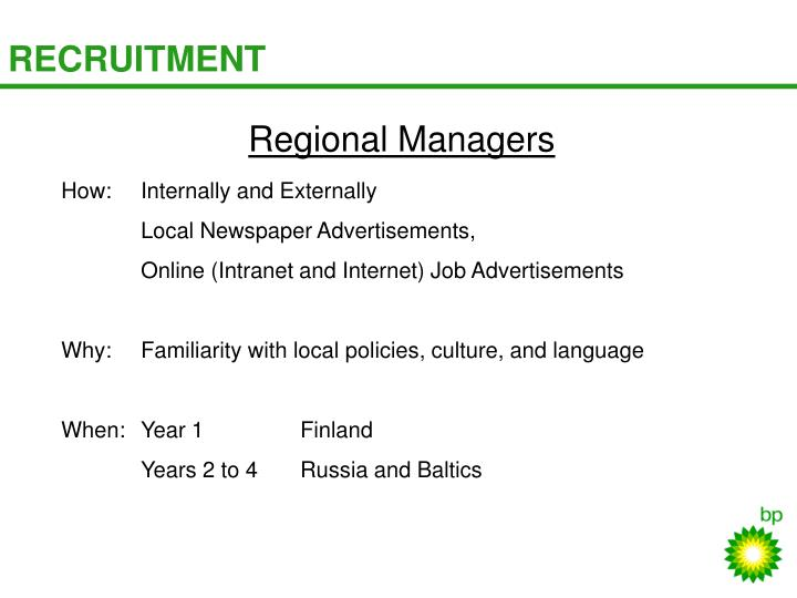 Regional Managers