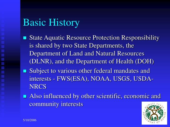 Basic history