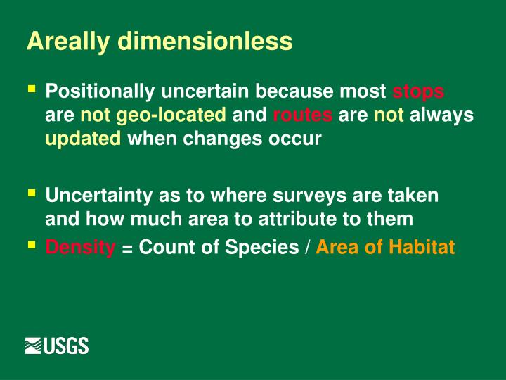 Areally dimensionless