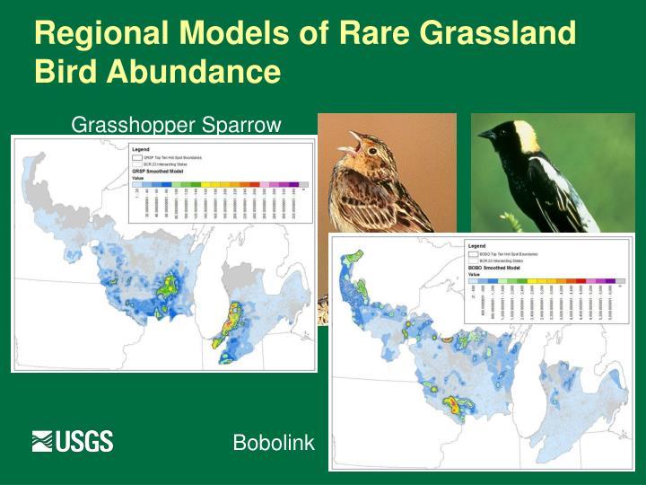 Regional Models of Rare Grassland Bird Abundance