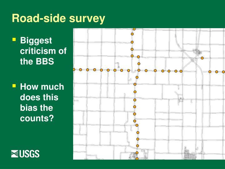 Road-side survey
