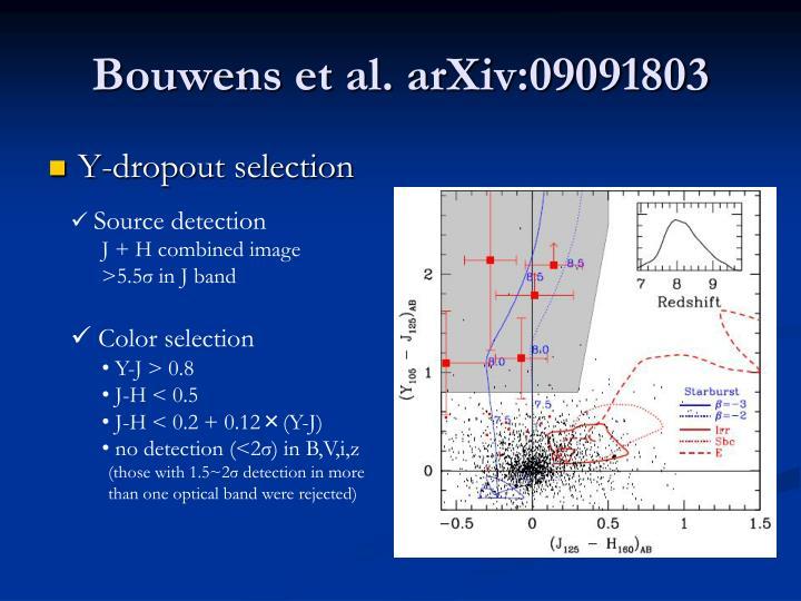Bouwens et al. arXiv:09091803