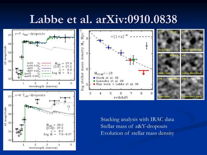 Labbe et al. arXiv:0910.0838