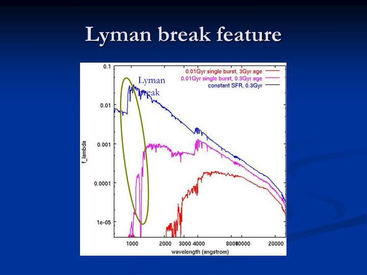 Lyman break feature