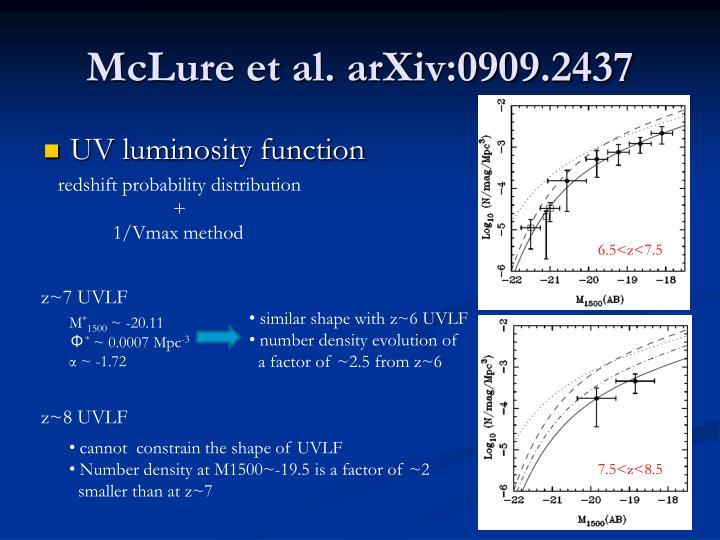 McLure et al. arXiv:0909.2437