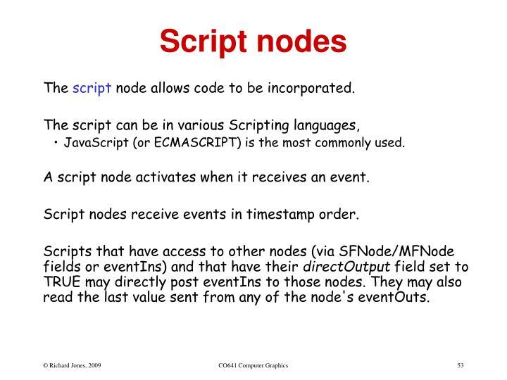 Script nodes