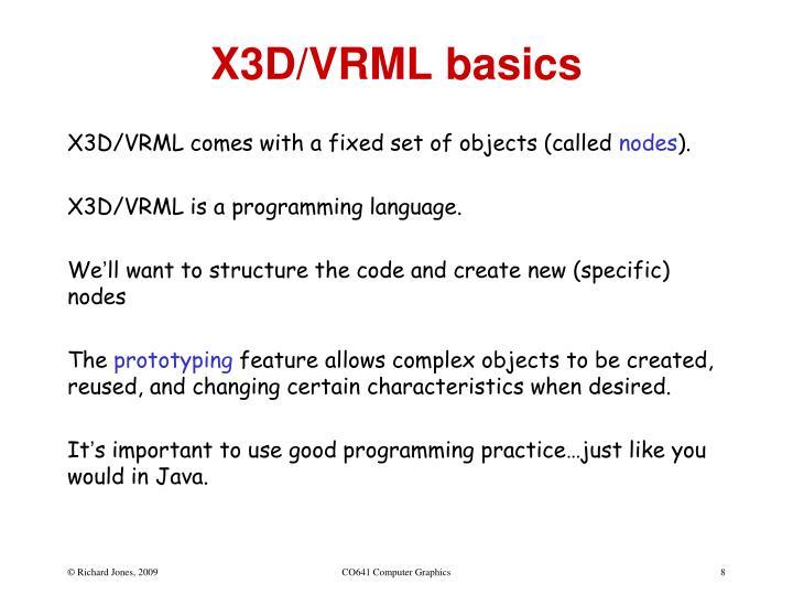 X3D/VRML basics