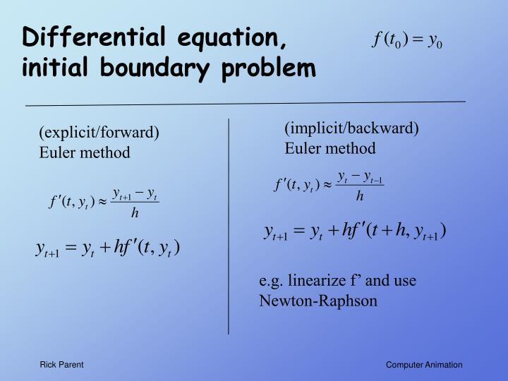 Differential equation, initial boundary problem