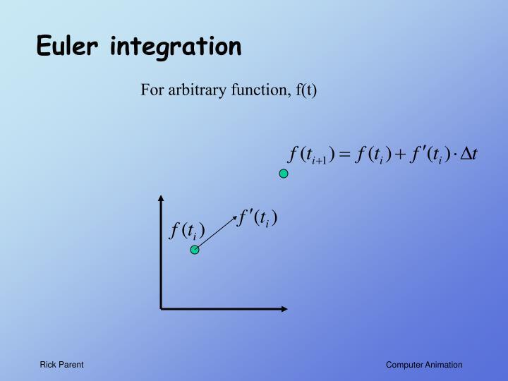 Euler integration