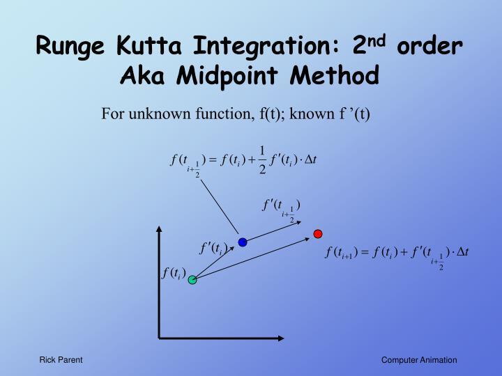 Runge Kutta Integration: 2