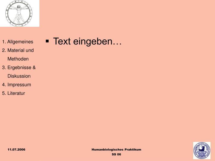 Text eingeben…
