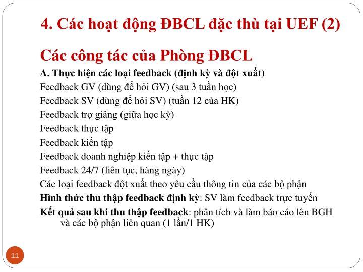 4. Các hoạt động ĐBCL đặc thù tại UEF (2)