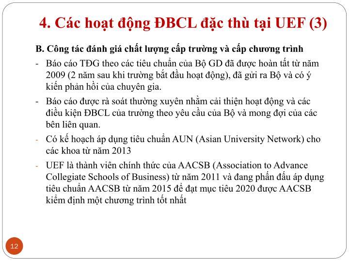 4. Các hoạt động ĐBCL đặc thù tại UEF (3)