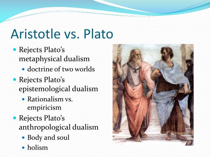 essay on aristotle vs. plato Essay preview what alternative does aristotle offer to plato's claim that learning is recollection where would aristotle locate the mistake in plato's argument in the phaedo in his dialogues the phaedo and meno, plato, through the form of socrates, puts forth the idea that all learning is.