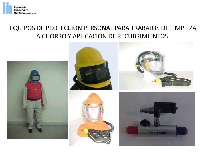 EQUIPOS DE PROTECCION PERSONAL PARA TRABAJOS DE LIMPIEZA