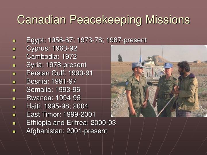 Canadian Peacekeeping Missions