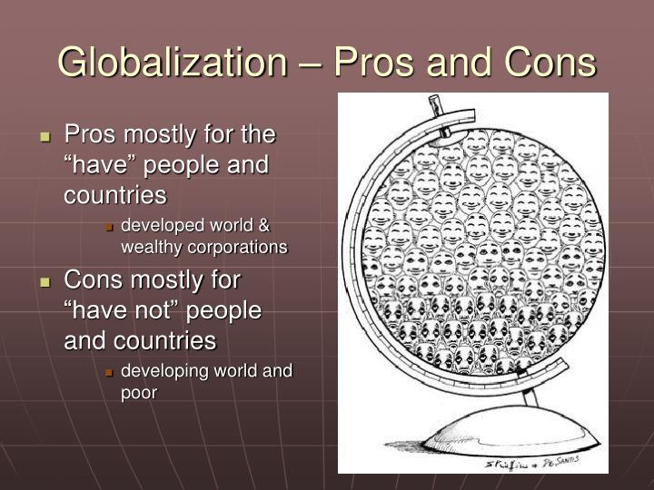Globalization – Pros and Cons