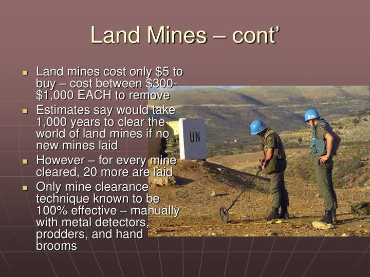 Land Mines – cont'