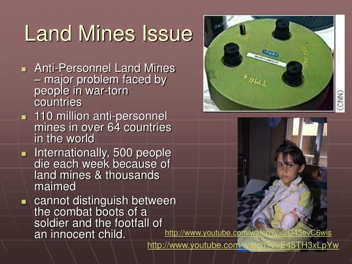 Land Mines Issue