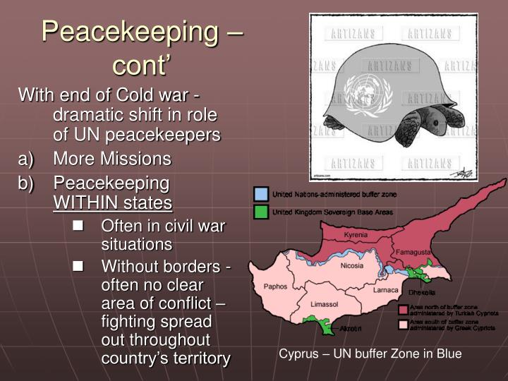 Peacekeeping – cont'