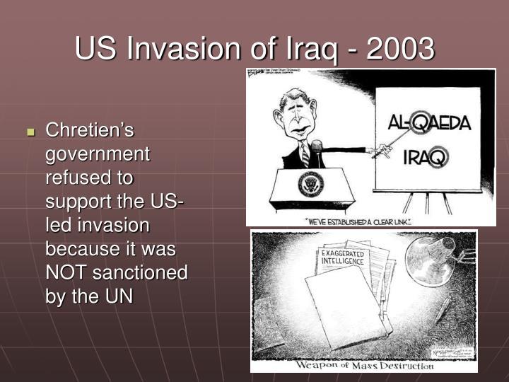 US Invasion of Iraq - 2003