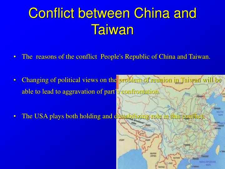 the conflict between the taiwanese and chinese