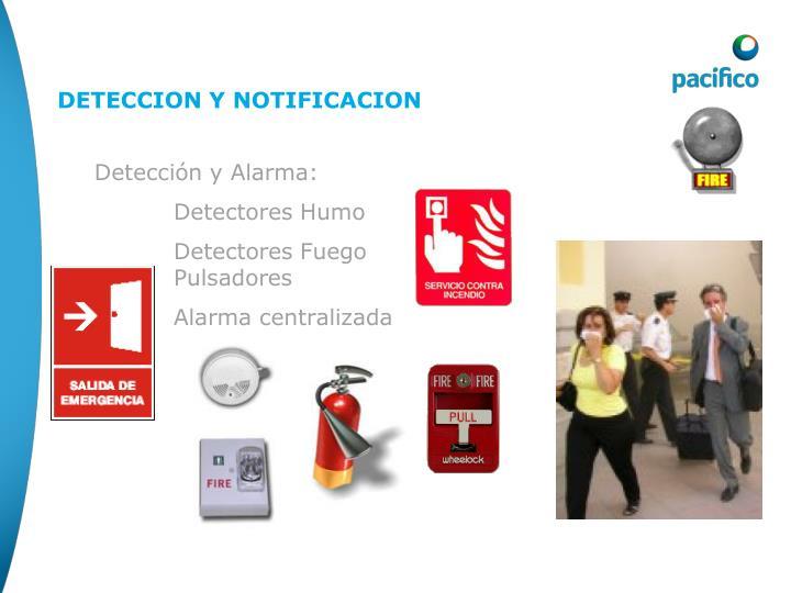 Detección y Alarma: