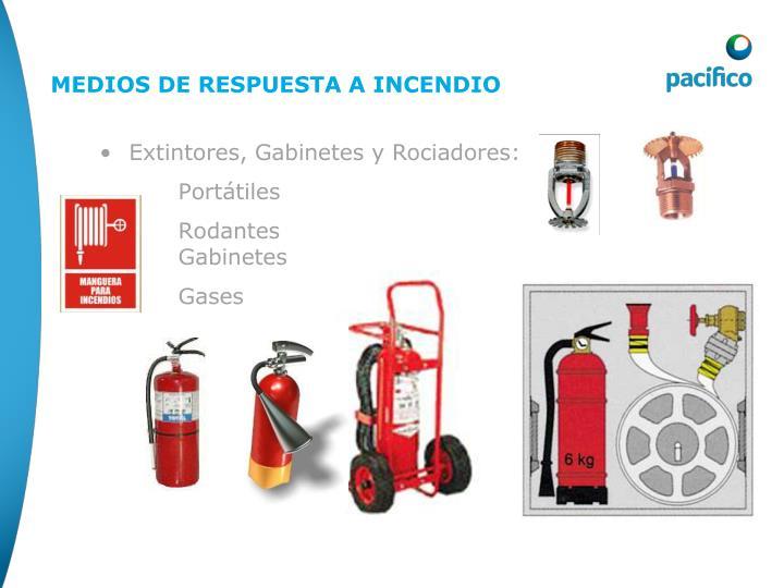 Extintores, Gabinetes y Rociadores:
