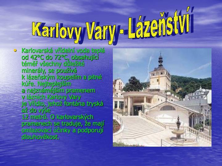 Karlovy Vary - Lázeňství