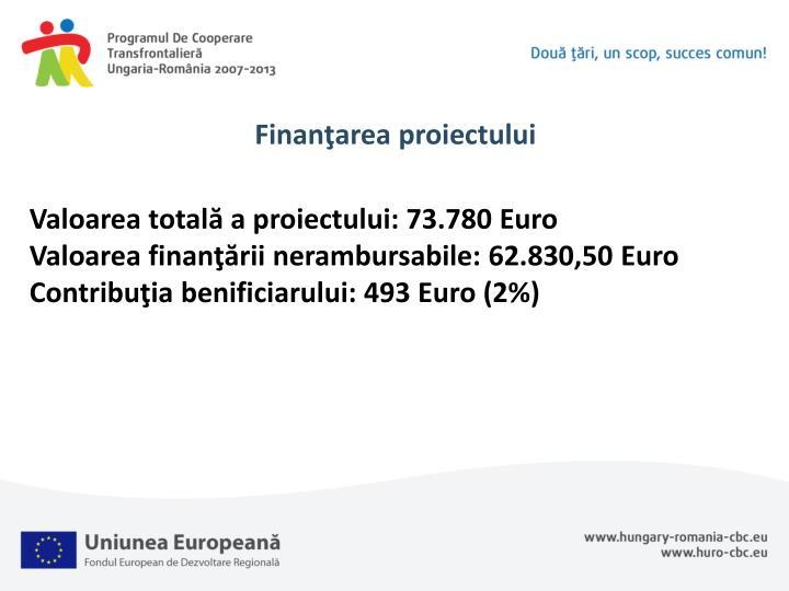 Finanţarea proiectului