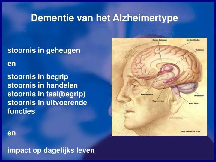 Dementie van het Alzheimertype