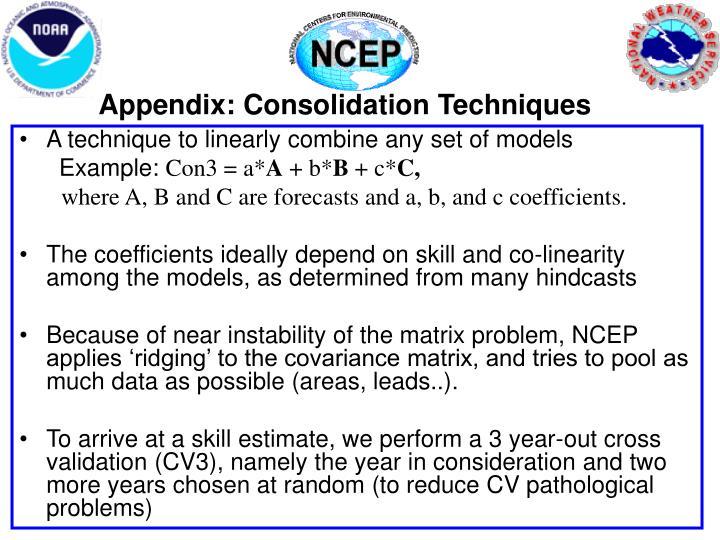 Appendix: Consolidation Techniques
