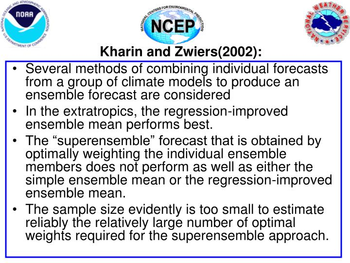Kharin and Zwiers(2002):