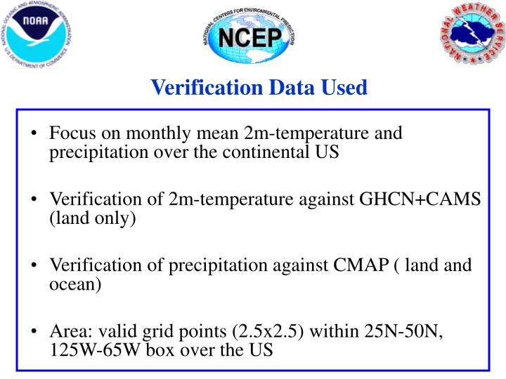 Verification Data Used