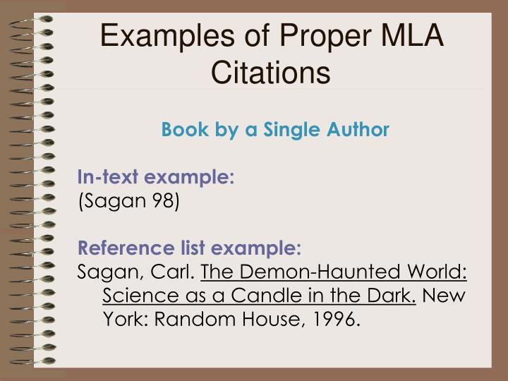 Examples of Proper MLA Citations