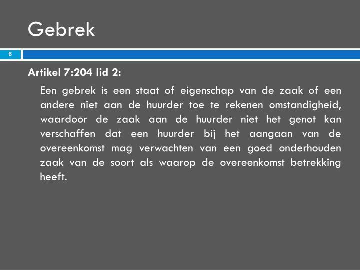 Gebrek