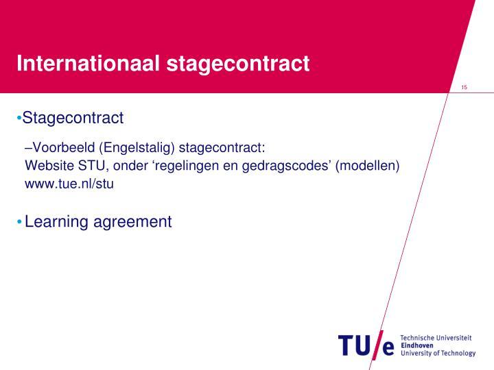 Internationaal stagecontract