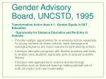 gender advisory board uncstd 1995