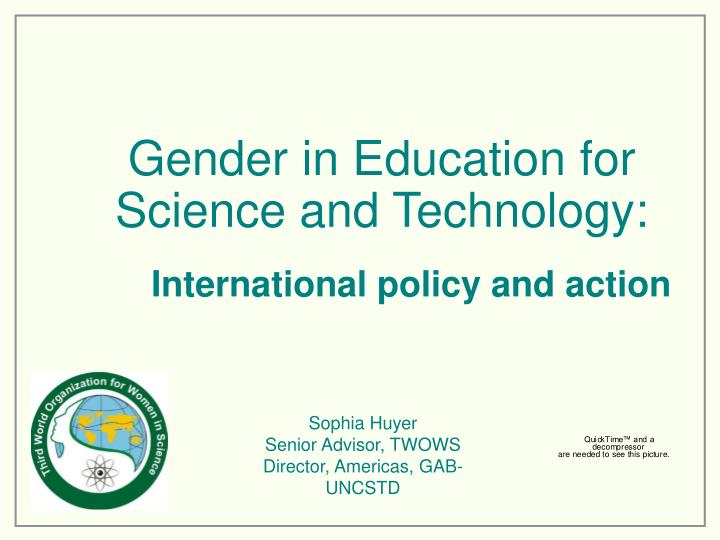 gender in education for science and technology n.