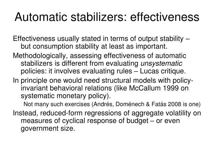 Automatic stabilizers: