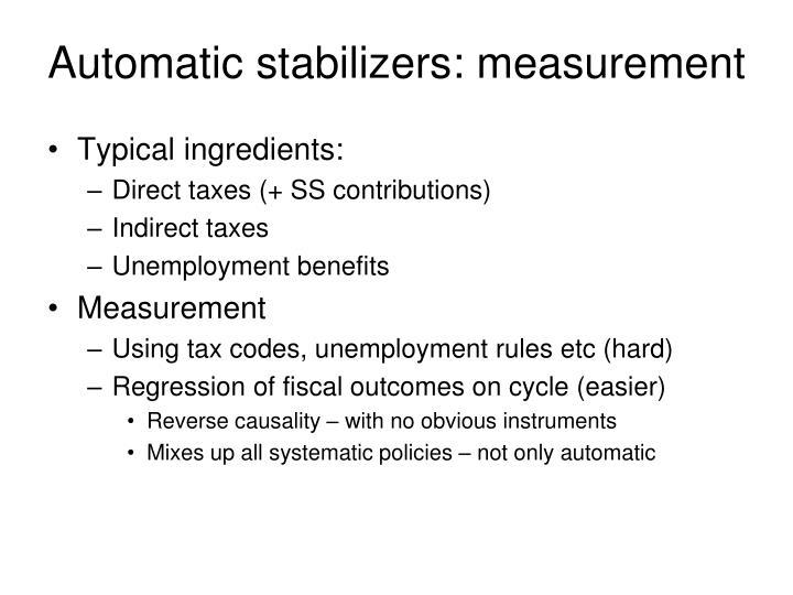Automatic stabilizers measurement
