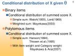 conditional distribution of x given q