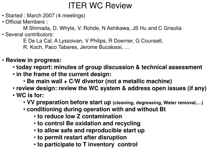 Iter wc review
