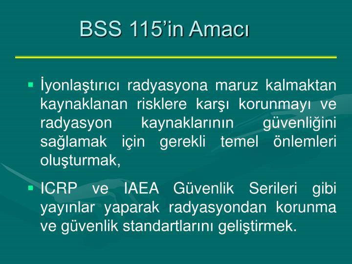 BSS 115'in Amacı