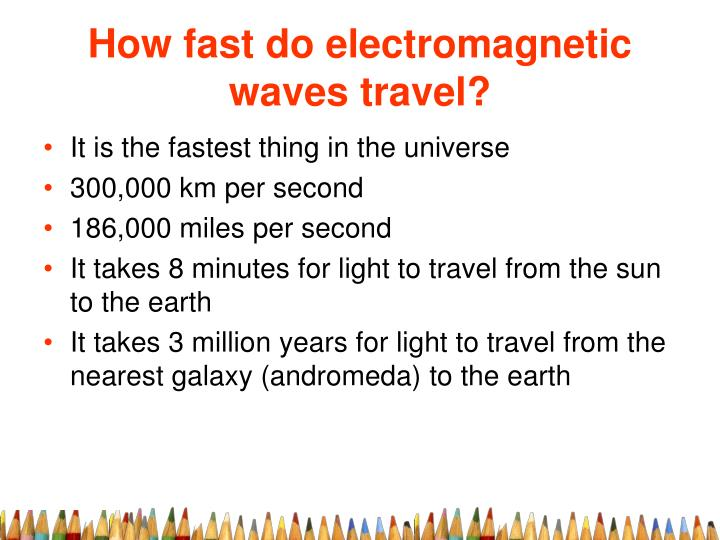 How fast do electromagnetic waves travel?