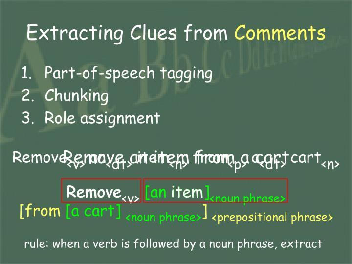 Extracting Clues from