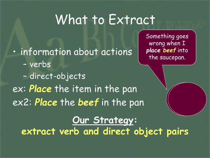 What to Extract