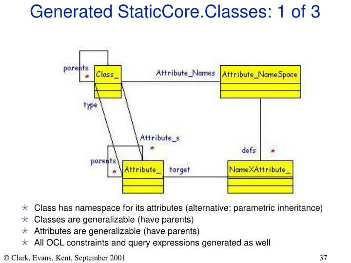 Generated StaticCore.Classes: 1 of 3